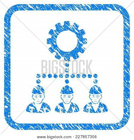 Service Staff Rubber Seal Stamp Imitation. Icon Vector Symbol With Grunge Design And Dust Texture In