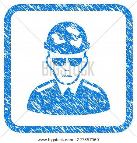 Swat Soldier Rubber Seal Stamp Imitation. Icon Vector Symbol With Grunge Design And Dirty Texture In
