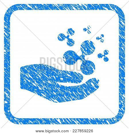 Ripple Salary Hand Rubber Seal Stamp Imitation. Icon Vector Symbol With Grunge Design And Dust Textu