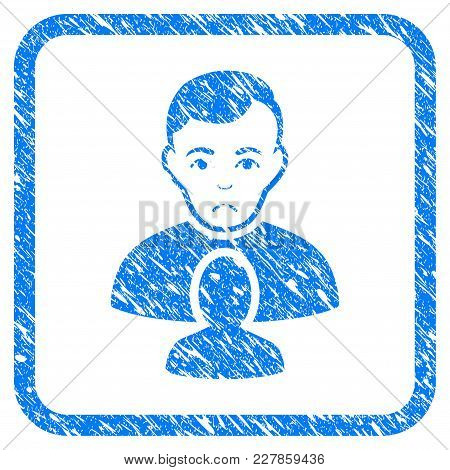 User Partner Rubber Seal Stamp Watermark. Icon Vector Symbol With Grunge Design And Corrosion Textur