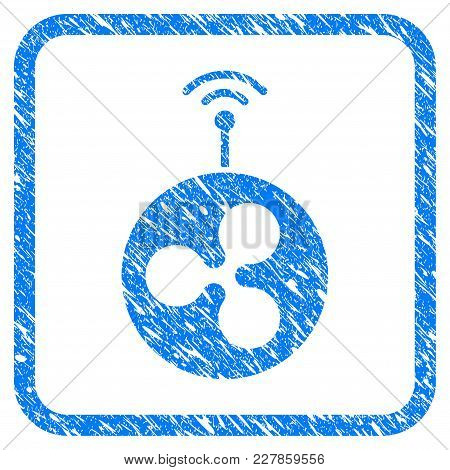 Ripple Radio Transmitter Rubber Seal Stamp Imitation. Icon Vector Symbol With Grunge Design And Corr