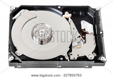 Internal 3.5-inch Sata Hard Disk Drive Box Without Cover Isolated On White Background