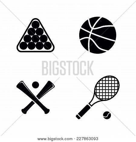 Sports Ball. Simple Related Vector Icons Set For Video, Mobile Apps, Web Sites, Print Projects And Y