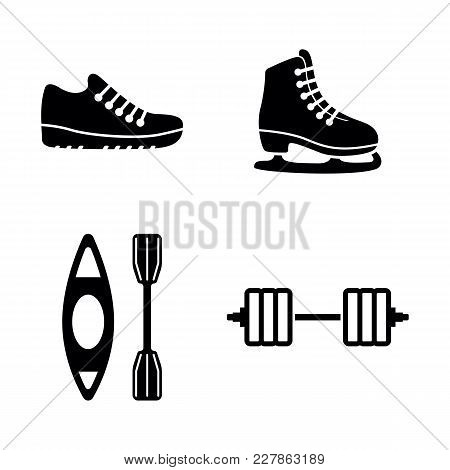 Sport. Simple Related Vector Icons Set For Video, Mobile Apps, Web Sites, Print Projects And Your De