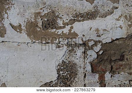 Combined concrete brick wall. Grunge concrete wall.  Grunge concrete background. Concrete background. Grey concrete wall. Grunge concrete.
