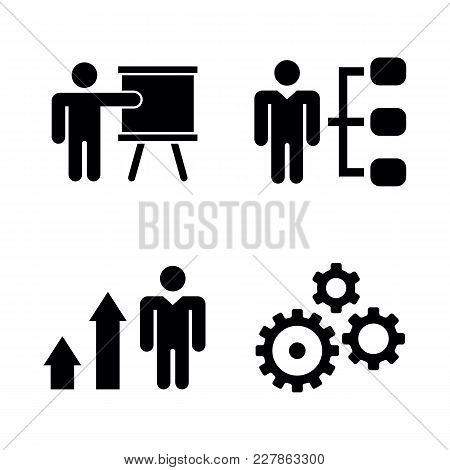 Business Strategy. Simple Related Vector Icons Set For Video, Mobile Apps, Web Sites, Print Projects