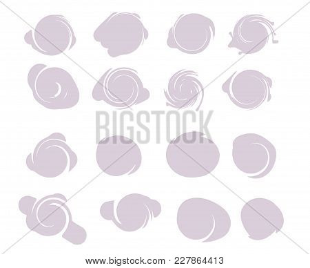 Grunge Post Stamps Collection, Circles 16 Round Splash Shapes Banners, Insignias , Logos, Icons, Lab