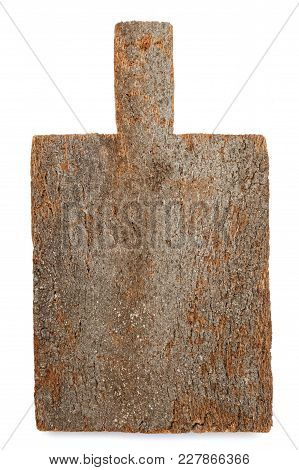 Cork Cutting Board Isolated On White Background