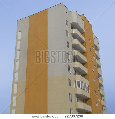 Modern Multistory Apartment Building. Contemporary Architecture. Apartment Block. Residential Buildi