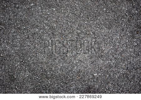 Aged Asphalt Road Surface Close Up For Background Or Other Issue.