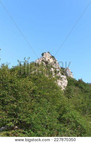 Mountain Summit Cima Sat Panorama Near Riva Del Garda, Italy