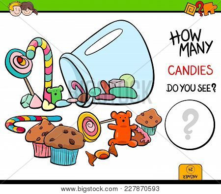 Counting Candies Educational Activity Game