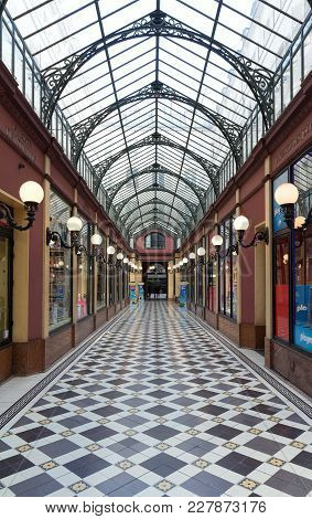 Paris, France - June 14, 2017: Interior Of Passage Des Princes Built In 1860 Between Boulevard Des I