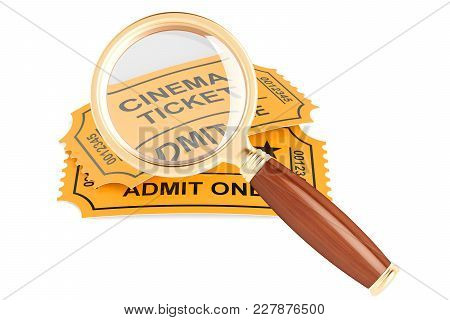 Searching For Tickets Concept, 3d Rendering Isolated On White Background
