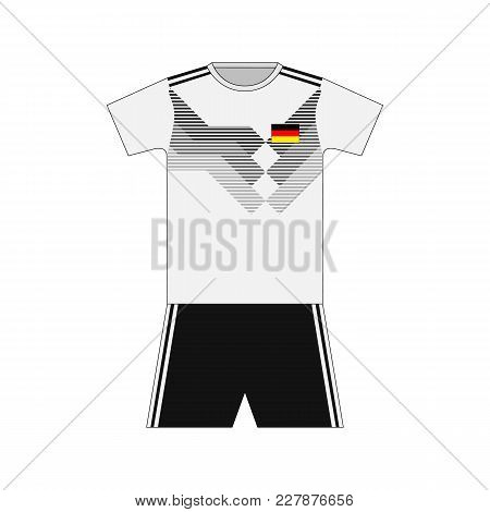 Football Kit. Germany 2018. National Team Equipment. T-shirt
