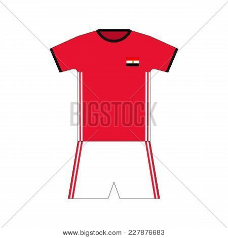Football Kit. Egypt 2018. National Team Equipment. T-shirt