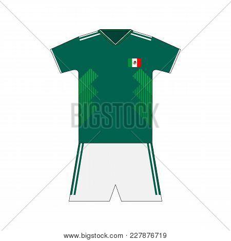 Football Kit. Mexico 2018. National Team Equipment. T-shirt