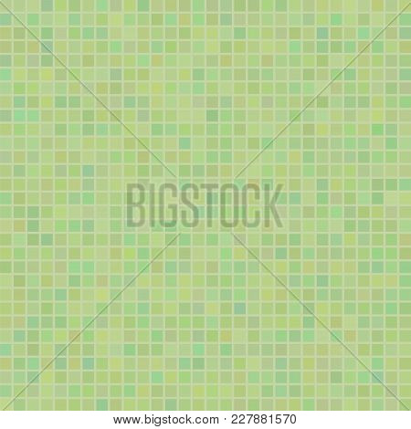 Green Mosaic Pattern. Square Ceramic Wall Background