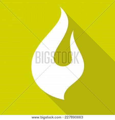 Fire Flames, Set Icons With Shadow On A Square Shape-04