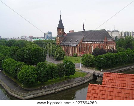 Kaliningrad; Russia; 2011; View On The Kneiphof Island With The Cathedral From The Observation Deck