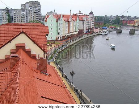 Kaliningrad, Russia; 2011, June, 18 - Fishing Village - Modern House, Built In The Style Of Vintage.