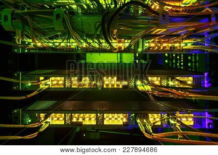 Fiber Optical Connector Interface. Information Technology Computer Network.