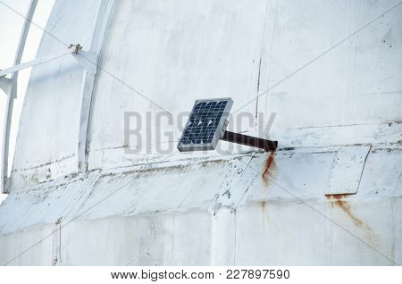 Small Solar Panel With Battery For Isolated Devices