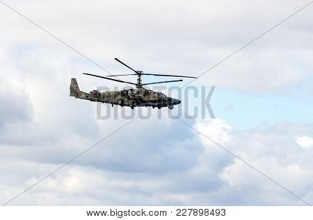 Samara, Russia - September 10, 2017: Russian Air Force Mi-28 Havoc Military Attack Combat Helicopter