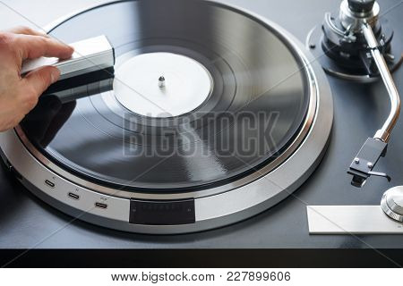 Turntable Vinyl Plate Clean With Cleaning Pad
