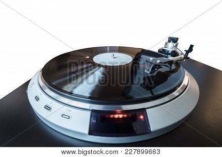Turntable Perspective View Isolated On White Background