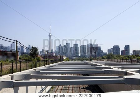 The City Of Toronto Canada As Seen From The Fort York Neighborhood