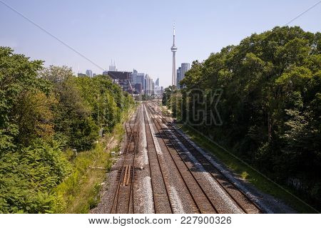 The Lakeshore West Train Line In Toronto Canada