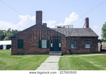 The Historic Building On The Grounds Of Fort York In Toronto Canada