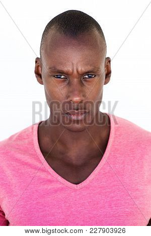 Handsome Black Man With Serious Face Expression