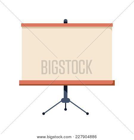 Business Flat Icon. Blackboard Concept Icon. College Or School Classroom Education Object. Presentat