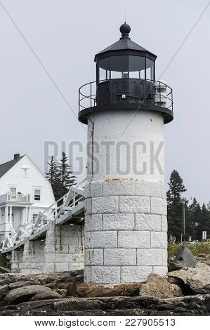 The Marshall Point Lighthouse Photo Taken From The Rocks In Front So The Picture Is From The Water S
