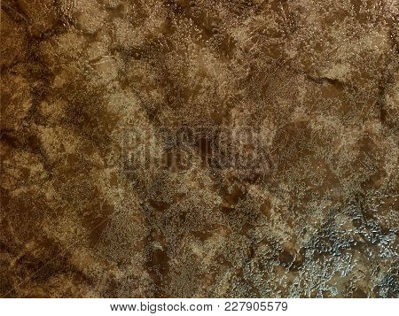 Square Brown Marble Floor Piece Texture, Background