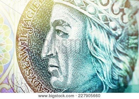 One Hundred Polish Zloty Banknote Crop - Wladyslaw Ii Jagiello Portait.