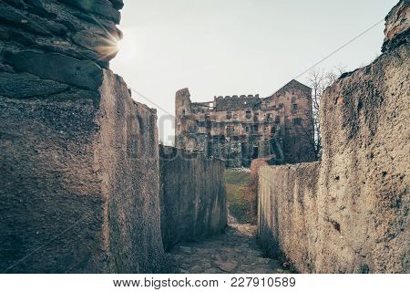 Ruins Of The Medieval Bolkow Castle, Lower Silesia, Poland