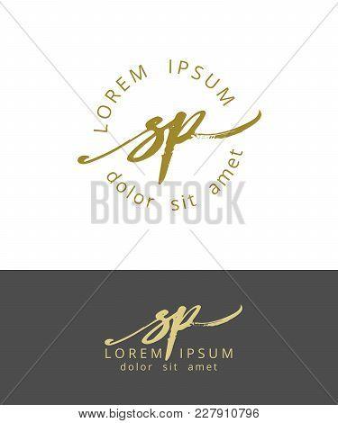 S P. Handdrawn Brush Monogram Calligraphy Logo Design Work