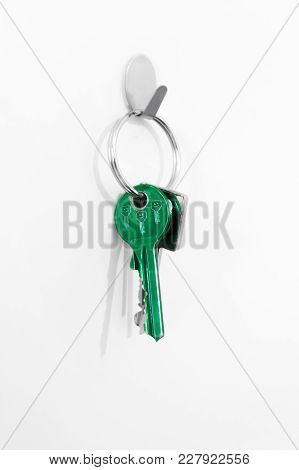 Forgotten Keys On The Hook Near The Door