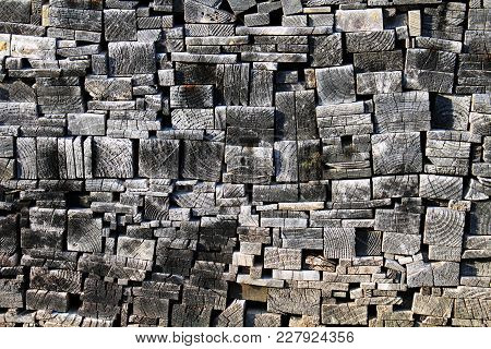 Stacks Of Raw Japanese Woods