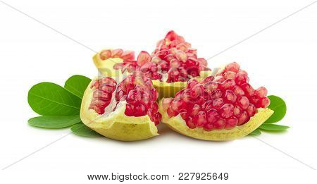 Pomegranate Fruit An Isolated On White Background