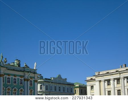Saint Petersburg, Russia - September 3, 2006: General Staff Building Located In The Palace Square.
