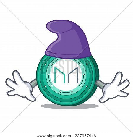 Elf Maker Coin Character Cartoon Vector Illustration
