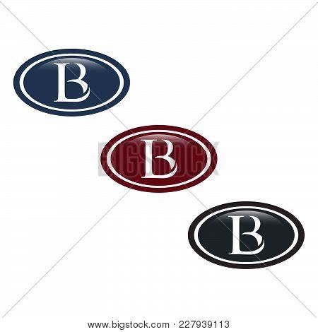 Lb Letter Creative Logo Vector Inside Elips Shape, Lb Logo Concept, Lb Letter Abstract Logo Concept