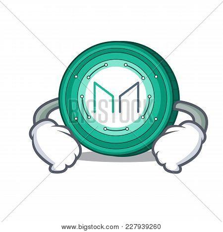 Hand On Waist Maker Coin Character Cartoon Vector Illustration
