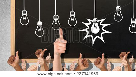 Digital composite of Thumbs up lights