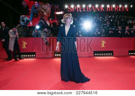 Valeria Golino attends the 'Daughter of Mine' (Figlia Mia) premiere during the 68th Film Festival Berlin at Berlinale Palast on February 18, 2018 in Berlin, Germany.