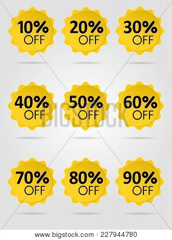 Special Offer Sale Yellow Tag Isolated Vector Illustration. Discount Offer Price Label, Symbol For A